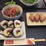 湯あみの島の商品の写真 - 太巻き寿司¥400・イカと里芋の煮物¥350・手羽先¥350
